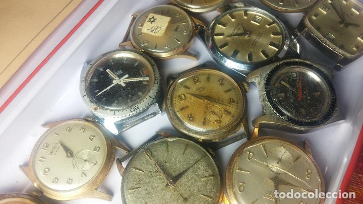 Relojes de pulsera: BOTITO GRAN LOTE DE 18 MAGNÍFICOS RELOJES ANTIGUOS PARA REPARAR O PIEZAS, MUY BARATITO A 10E UNIDAD - Foto 14 - 124334523