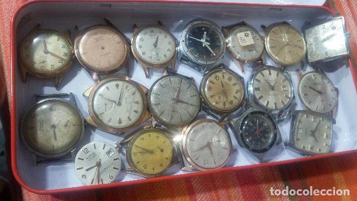 Relojes de pulsera: BOTITO GRAN LOTE DE 18 MAGNÍFICOS RELOJES ANTIGUOS PARA REPARAR O PIEZAS, MUY BARATITO A 10E UNIDAD - Foto 15 - 124334523