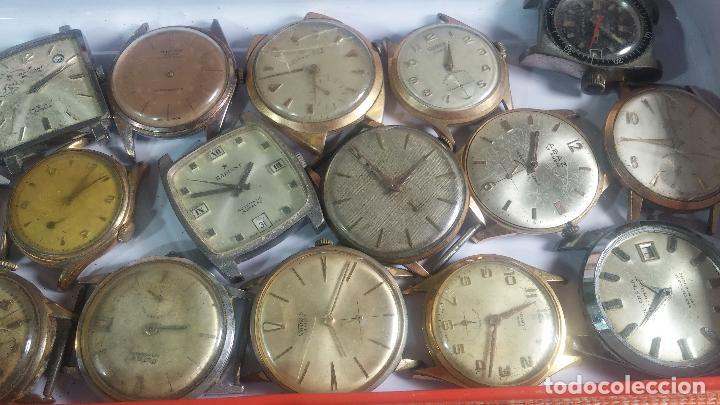 Relojes de pulsera: BOTITO GRAN LOTE DE 18 MAGNÍFICOS RELOJES ANTIGUOS PARA REPARAR O PIEZAS, MUY BARATITO A 10E UNIDAD - Foto 17 - 124334523