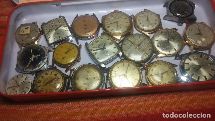 Relojes de pulsera: BOTITO GRAN LOTE DE 18 MAGNÍFICOS RELOJES ANTIGUOS PARA REPARAR O PIEZAS, MUY BARATITO A 10E UNIDAD - Foto 19 - 124334523