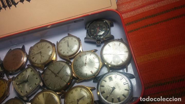 Relojes de pulsera: BOTITO GRAN LOTE DE 18 MAGNÍFICOS RELOJES ANTIGUOS PARA REPARAR O PIEZAS, MUY BARATITO A 10E UNIDAD - Foto 20 - 124334523