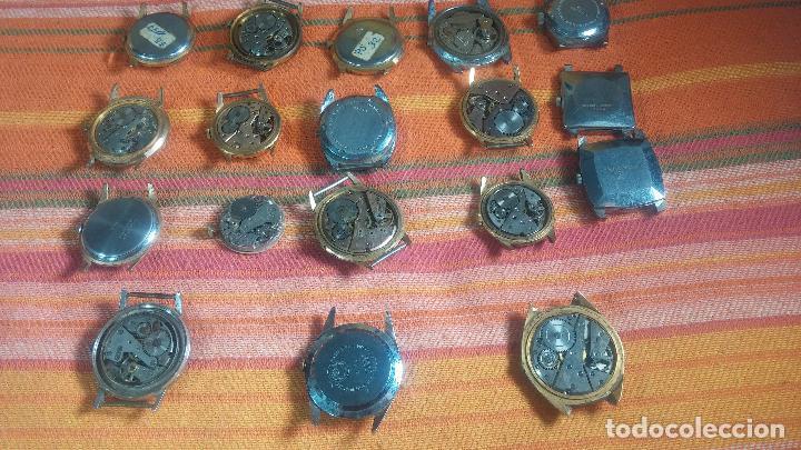 Relojes de pulsera: BOTITO GRAN LOTE DE 18 MAGNÍFICOS RELOJES ANTIGUOS PARA REPARAR O PIEZAS, MUY BARATITO A 10E UNIDAD - Foto 21 - 124334523