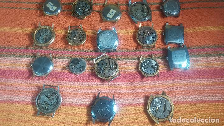 Relojes de pulsera: BOTITO GRAN LOTE DE 18 MAGNÍFICOS RELOJES ANTIGUOS PARA REPARAR O PIEZAS, MUY BARATITO A 10E UNIDAD - Foto 23 - 124334523