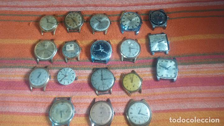 Relojes de pulsera: BOTITO GRAN LOTE DE 18 MAGNÍFICOS RELOJES ANTIGUOS PARA REPARAR O PIEZAS, MUY BARATITO A 10E UNIDAD - Foto 25 - 124334523