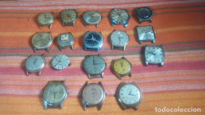 Relojes de pulsera: BOTITO GRAN LOTE DE 18 MAGNÍFICOS RELOJES ANTIGUOS PARA REPARAR O PIEZAS, MUY BARATITO A 10E UNIDAD - Foto 26 - 124334523