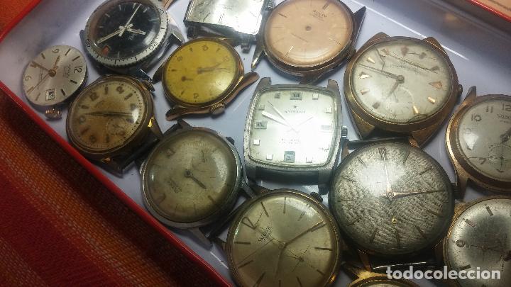 Relojes de pulsera: BOTITO GRAN LOTE DE 18 MAGNÍFICOS RELOJES ANTIGUOS PARA REPARAR O PIEZAS, MUY BARATITO A 10E UNIDAD - Foto 27 - 124334523