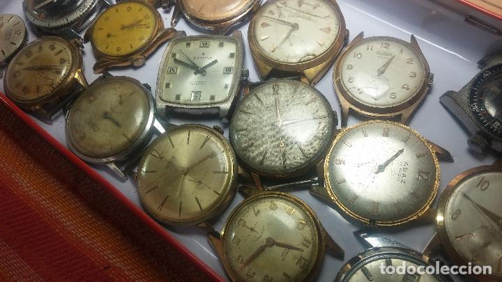Relojes de pulsera: BOTITO GRAN LOTE DE 18 MAGNÍFICOS RELOJES ANTIGUOS PARA REPARAR O PIEZAS, MUY BARATITO A 10E UNIDAD - Foto 28 - 124334523