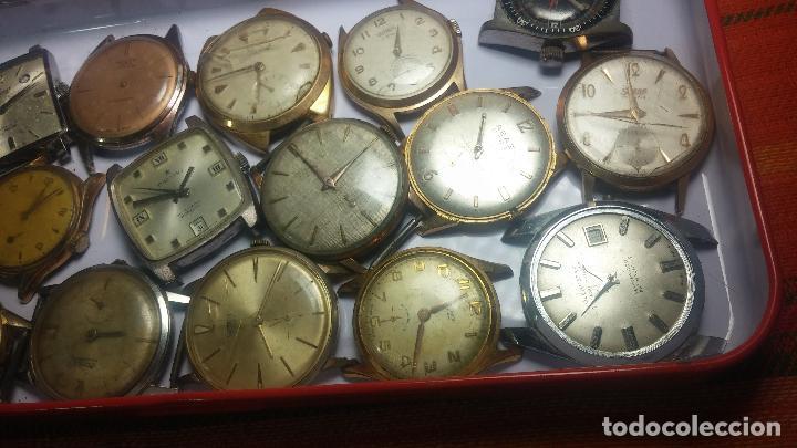 Relojes de pulsera: BOTITO GRAN LOTE DE 18 MAGNÍFICOS RELOJES ANTIGUOS PARA REPARAR O PIEZAS, MUY BARATITO A 10E UNIDAD - Foto 29 - 124334523