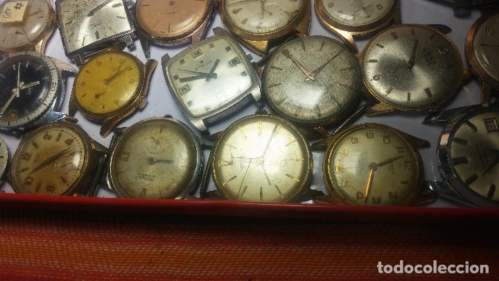Relojes de pulsera: BOTITO GRAN LOTE DE 18 MAGNÍFICOS RELOJES ANTIGUOS PARA REPARAR O PIEZAS, MUY BARATITO A 10E UNIDAD - Foto 30 - 124334523