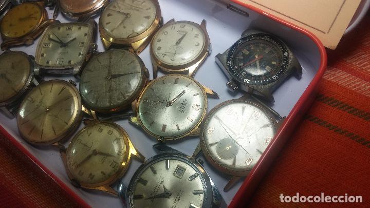 Relojes de pulsera: BOTITO GRAN LOTE DE 18 MAGNÍFICOS RELOJES ANTIGUOS PARA REPARAR O PIEZAS, MUY BARATITO A 10E UNIDAD - Foto 31 - 124334523