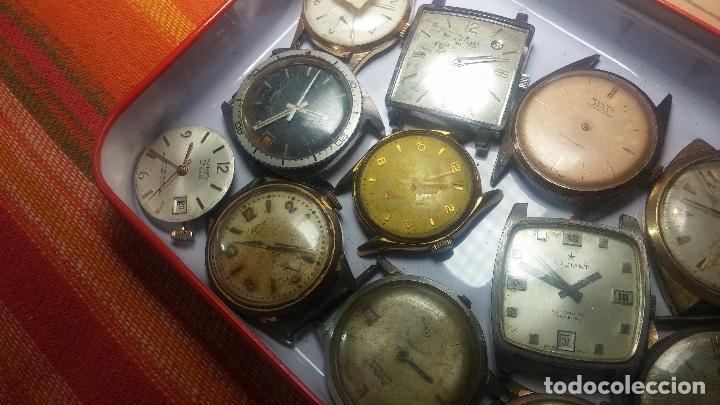 Relojes de pulsera: BOTITO GRAN LOTE DE 18 MAGNÍFICOS RELOJES ANTIGUOS PARA REPARAR O PIEZAS, MUY BARATITO A 10E UNIDAD - Foto 32 - 124334523