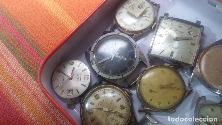 Relojes de pulsera: BOTITO GRAN LOTE DE 18 MAGNÍFICOS RELOJES ANTIGUOS PARA REPARAR O PIEZAS, MUY BARATITO A 10E UNIDAD - Foto 34 - 124334523