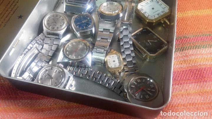 Relojes de pulsera: Botito lote relojero de reloj o relojes variados antiguos para reparar o piezas - Foto 3 - 124339695