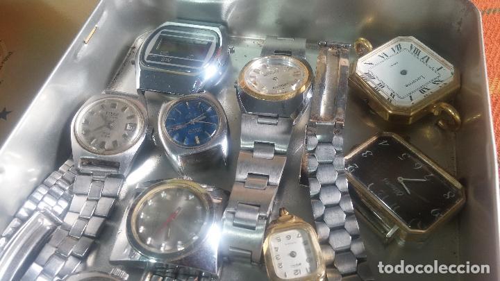 Relojes de pulsera: Botito lote relojero de reloj o relojes variados antiguos para reparar o piezas - Foto 6 - 124339695
