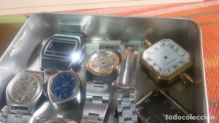 Relojes de pulsera: Botito lote relojero de reloj o relojes variados antiguos para reparar o piezas - Foto 7 - 124339695