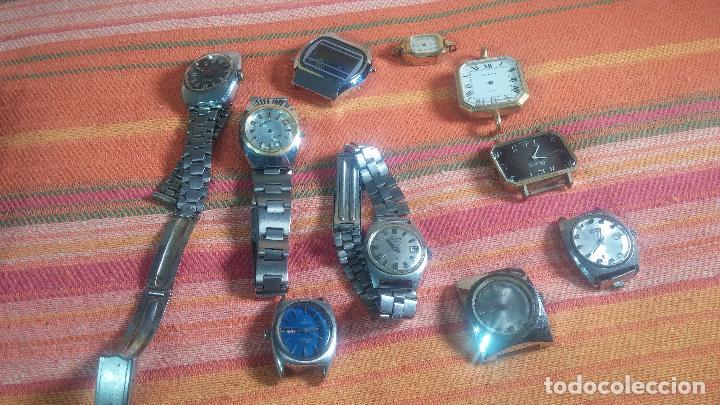 Relojes de pulsera: Botito lote relojero de reloj o relojes variados antiguos para reparar o piezas - Foto 16 - 124339695