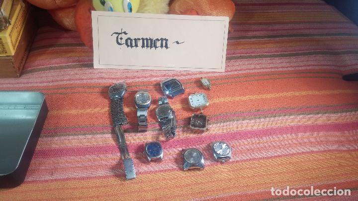 Relojes de pulsera: Botito lote relojero de reloj o relojes variados antiguos para reparar o piezas - Foto 14 - 124339695