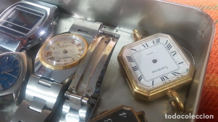 Relojes de pulsera: Botito lote relojero de reloj o relojes variados antiguos para reparar o piezas - Foto 9 - 124339695