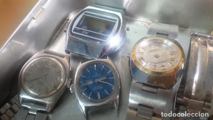 Relojes de pulsera: Botito lote relojero de reloj o relojes variados antiguos para reparar o piezas - Foto 11 - 124339695