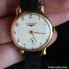 Relojes de pulsera: ANTIGUO RELOJ DE PULSERA DE ORO 18 KILATES CONTRASTE LONGINES DE PRINCIPIOS SIGLO XX. Lote 125043787