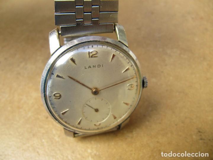 Relojes de pulsera: ANTIGUO RELOJ DE CUERDA DE PULSERA DE LA MARCA LANDI - Foto 3 - 125185223