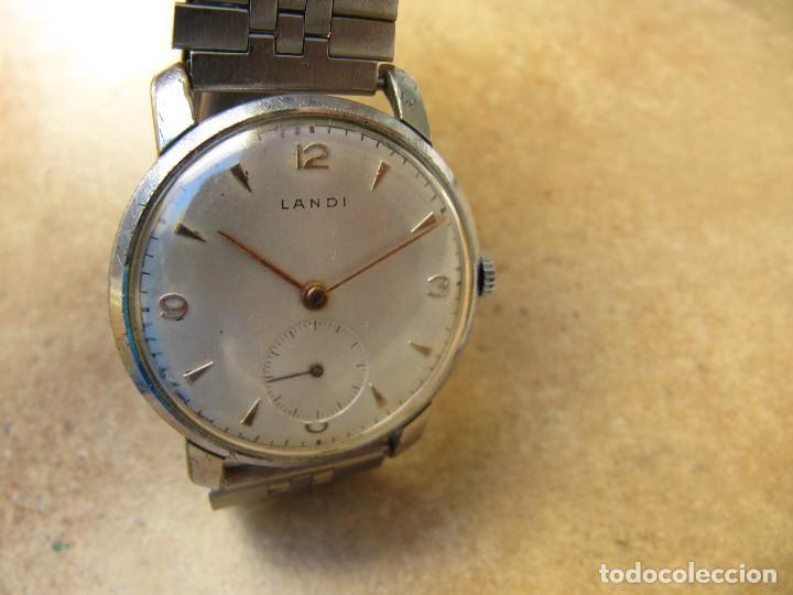 Relojes de pulsera: ANTIGUO RELOJ DE CUERDA DE PULSERA DE LA MARCA LANDI - Foto 5 - 125185223