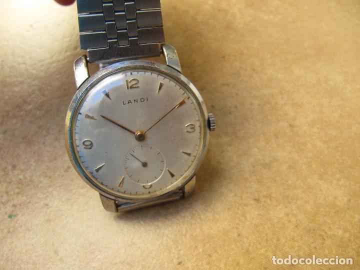 Relojes de pulsera: ANTIGUO RELOJ DE CUERDA DE PULSERA DE LA MARCA LANDI - Foto 7 - 125185223