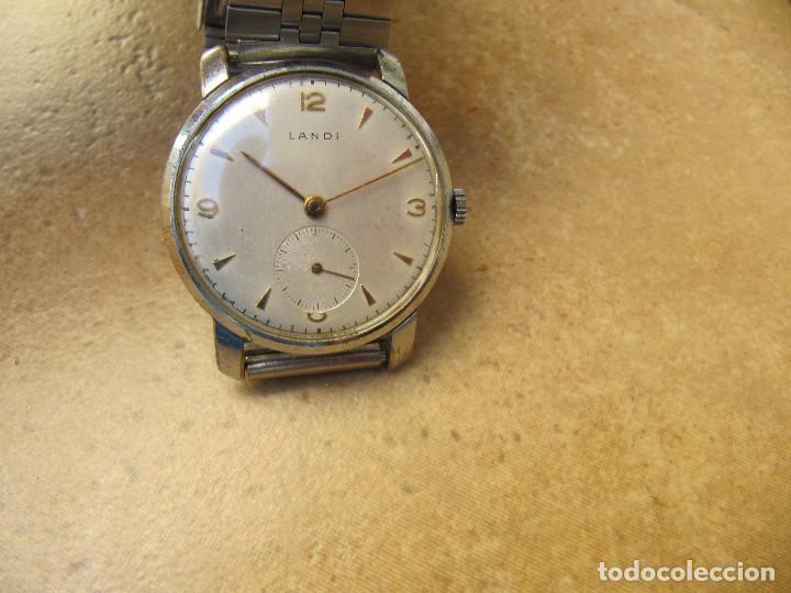 Relojes de pulsera: ANTIGUO RELOJ DE CUERDA DE PULSERA DE LA MARCA LANDI - Foto 8 - 125185223