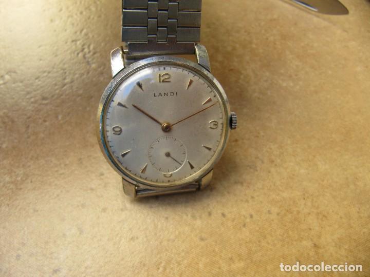 Relojes de pulsera: ANTIGUO RELOJ DE CUERDA DE PULSERA DE LA MARCA LANDI - Foto 9 - 125185223