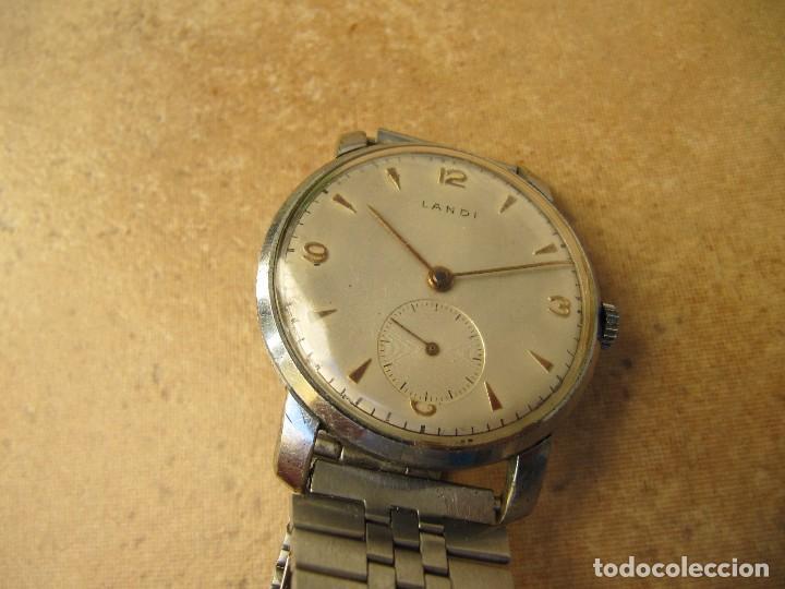 Relojes de pulsera: ANTIGUO RELOJ DE CUERDA DE PULSERA DE LA MARCA LANDI - Foto 10 - 125185223