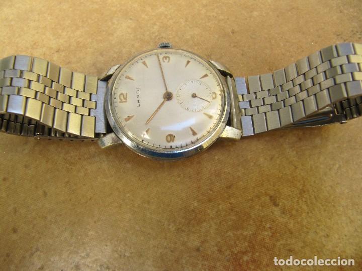 Relojes de pulsera: ANTIGUO RELOJ DE CUERDA DE PULSERA DE LA MARCA LANDI - Foto 11 - 125185223
