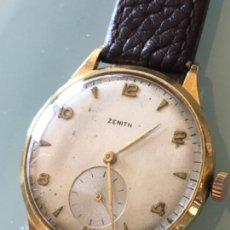 Relojes de pulsera: RELOJ ZENITH SWISS MADE CAJA SUIZA ORO 18 KILATES AÑOS 60. Lote 125288459