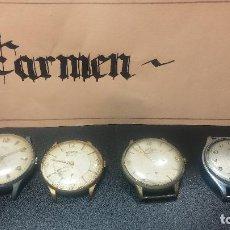 Relojes de pulsera: BOTITO LOTE DE 4 RELOJES, PARA REPARAR O PIEZAS, ANTIGUOS, GRANDES, DE CUERDA, 3 DOGMAS Y OTRO MÁS. Lote 125974895