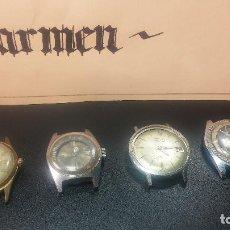 Relojes de pulsera: BOTITO LOTE DE 4 RELOJES, PARA REPARAR O PIEZAS, ANTIGUOS, 2 AUTOMÁTICOS Y 2 DE CUERDA. Lote 125974967