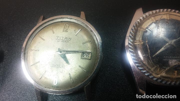 Relojes de pulsera: BOTITO LOTE DE 4 relojes, para reparar o piezas, antiguos, 2 AUTOMÁTICOS Y 2 DE CUERDA - Foto 3 - 125974967