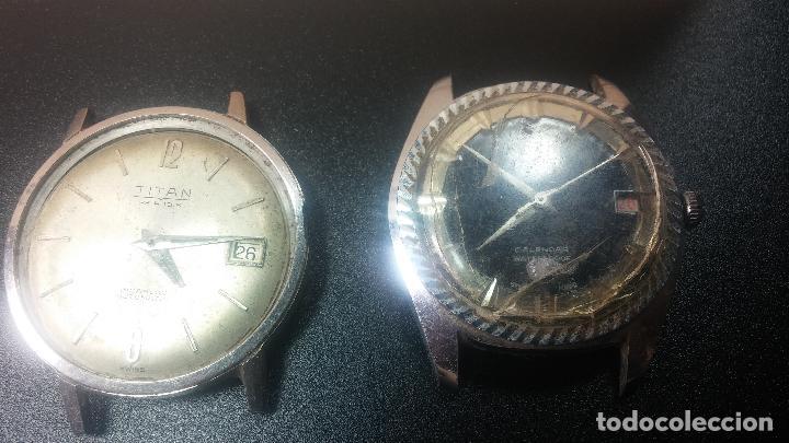 Relojes de pulsera: BOTITO LOTE DE 4 relojes, para reparar o piezas, antiguos, 2 AUTOMÁTICOS Y 2 DE CUERDA - Foto 4 - 125974967