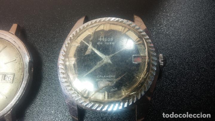 Relojes de pulsera: BOTITO LOTE DE 4 relojes, para reparar o piezas, antiguos, 2 AUTOMÁTICOS Y 2 DE CUERDA - Foto 5 - 125974967