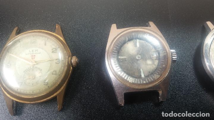Relojes de pulsera: BOTITO LOTE DE 4 relojes, para reparar o piezas, antiguos, 2 AUTOMÁTICOS Y 2 DE CUERDA - Foto 6 - 125974967