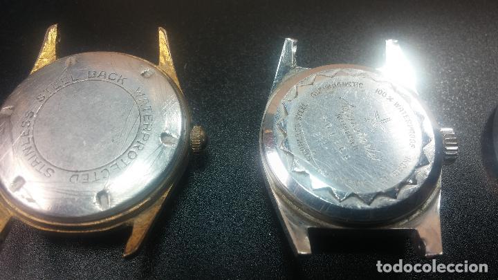 Relojes de pulsera: BOTITO LOTE DE 4 relojes, para reparar o piezas, antiguos, 2 AUTOMÁTICOS Y 2 DE CUERDA - Foto 15 - 125974967
