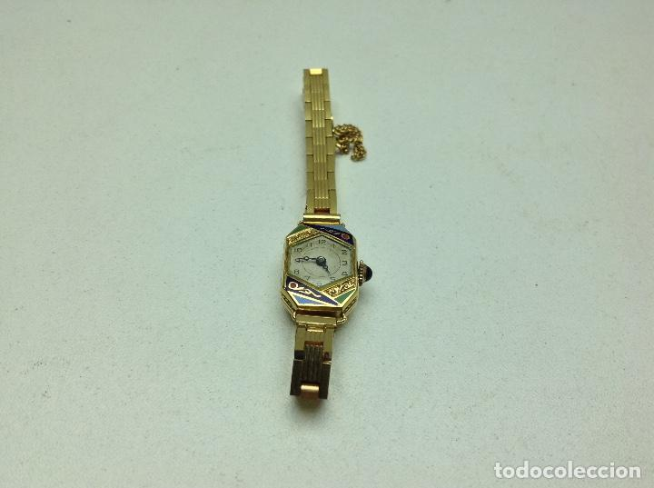 Reloj de pulsera de mujer oro 18 k art deco a Vendido en