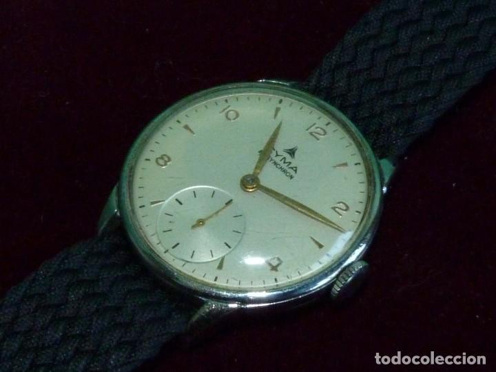PRECIOSO RELOJ CYMA SYNCHRON CALIBRE 586 SWISS MADE 15 RUBIS AÑOS 60 BUEN TAMAÑO COLECCIÓN VINTAGE (Relojes - Pulsera Carga Manual)