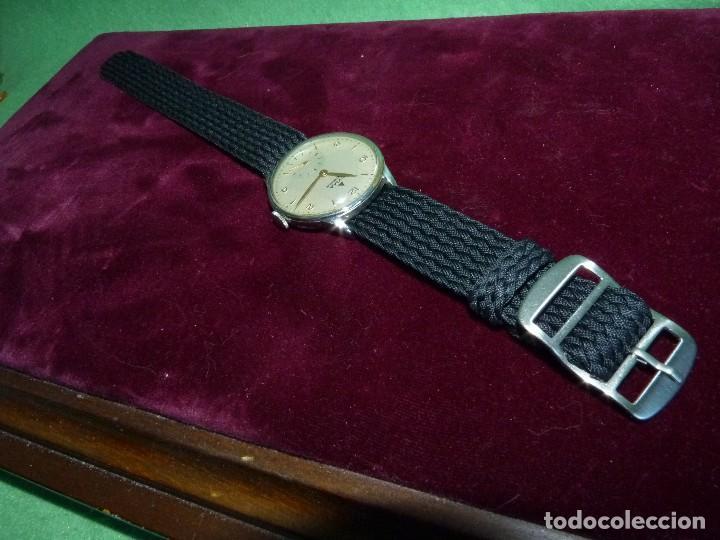 Relojes de pulsera: Precioso reloj CYMA Synchron calibre 586 swiss made 15 rubis años 60 buen tamaño colección vintage - Foto 3 - 126063651