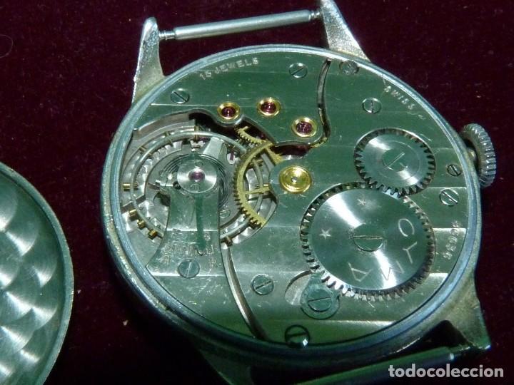 Relojes de pulsera: Precioso reloj CYMA Synchron calibre 586 swiss made 15 rubis años 60 buen tamaño colección vintage - Foto 6 - 126063651