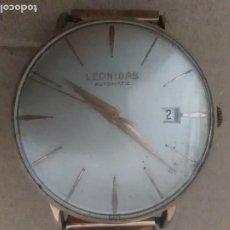 Relojes de pulsera: RELOJ LEONIDAS AUTOMATIC SI,IMIER 17 JOYAS SUIZA CALENDARIO FUNCIONA PERFECTAMENTE. Lote 126065963