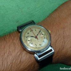 Relojes de pulsera: ENORME RELOJ MILITAR CRONOMETRO PILOTO CALIBRE LANDERON HAHN MONOPULSANTE AÑOS 30 EBERHARD BREITLING. Lote 126068519