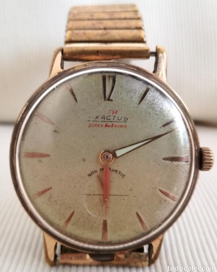 ANTIGUO RELOJ A CUERDA EXACTUS 21 RUBIES. (Relojes - Pulsera Carga Manual)