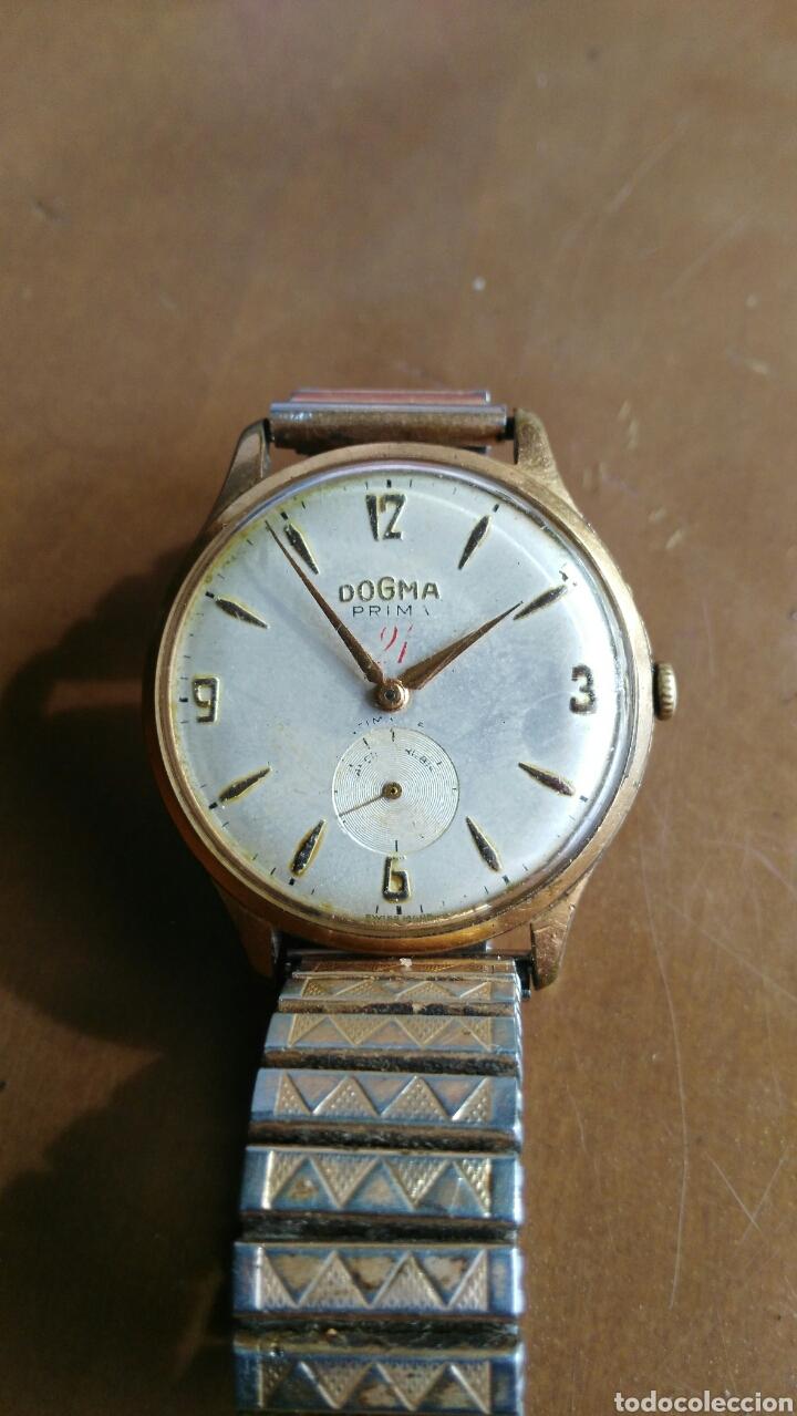 Relojes de pulsera: RELOJ CABALLERO ANTIGUO MARCA DOGMA chapado oro - Foto 2 - 126474167
