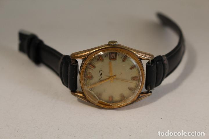 Relojes de pulsera: reloj manual chapado en oro duward 17 jewels swiss made - Foto 7 - 127036159
