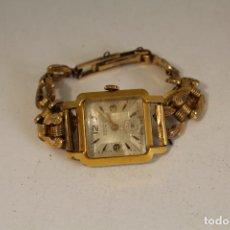 Relojes de pulsera: RELOJ DE PULSERA CAUNY PRIMA PLAQUE DE ORO. Lote 127179447