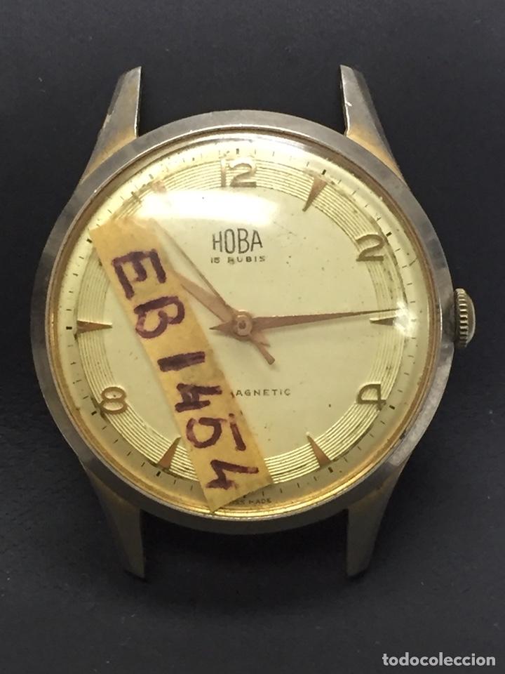 RELOJ PARA PIEZAS MARCA HOBA 15 RUBIS ANTIMAGNETIC (Relojes - Pulsera Carga Manual)